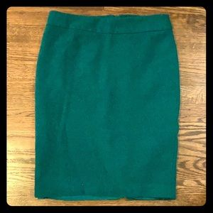 Merona Emerald Green Wool Pencil Skirt